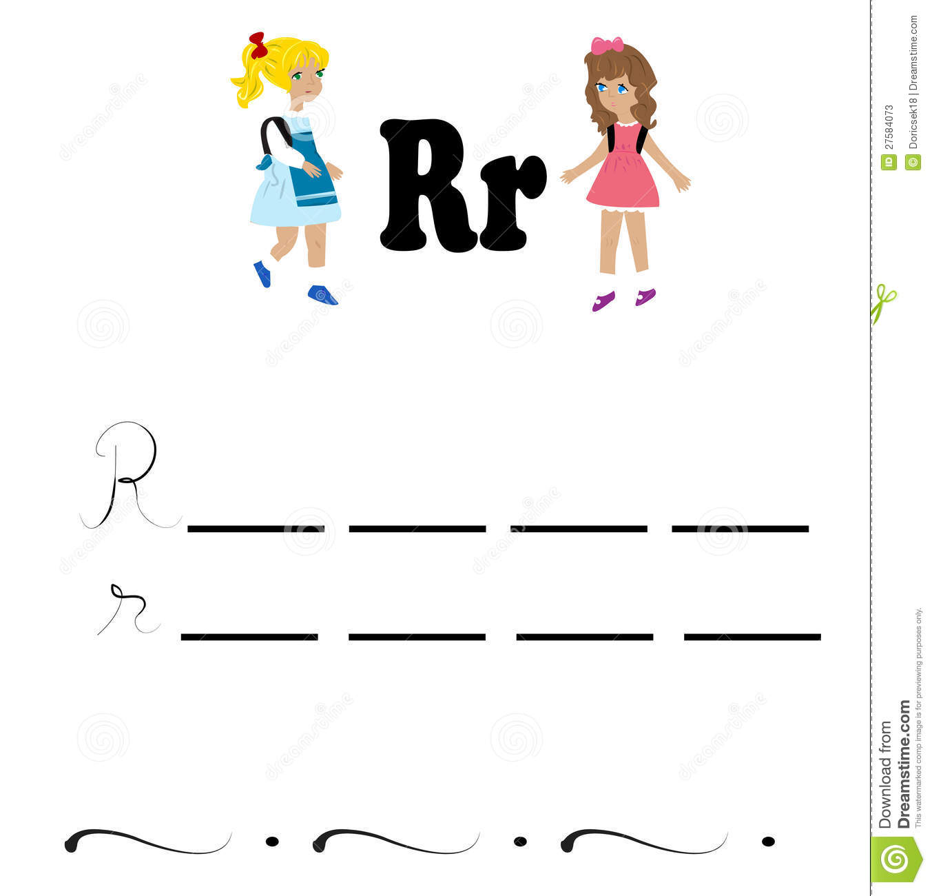 Alphabet Worksheet Stock Photos