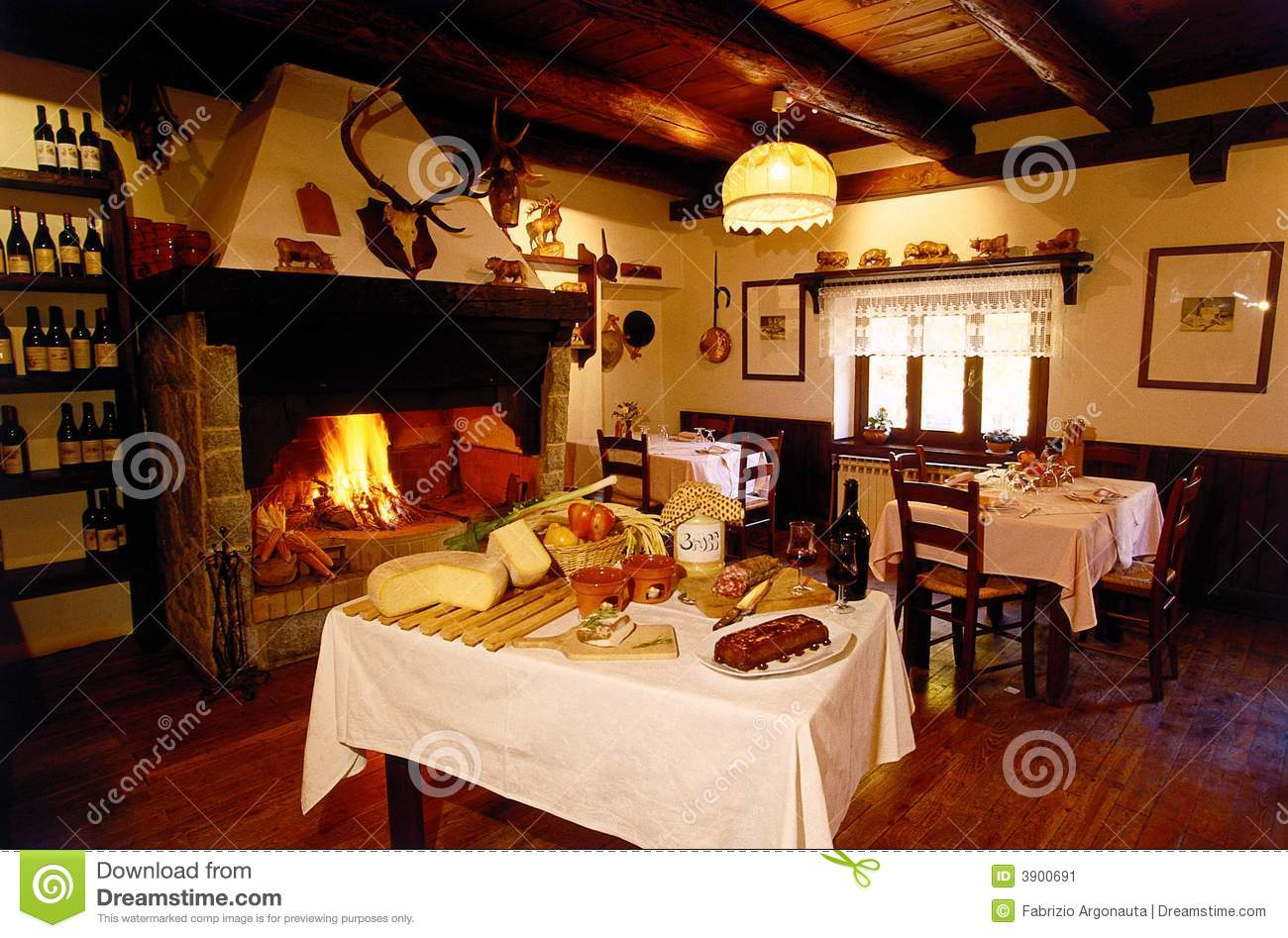 Alpine Restaurant Lounge Stock Image Image 3900691