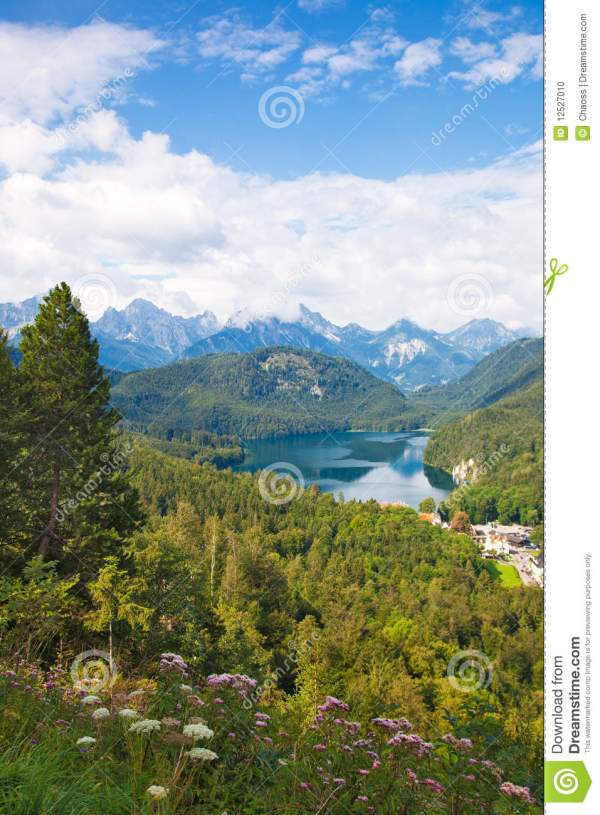 alps germany landscape stock