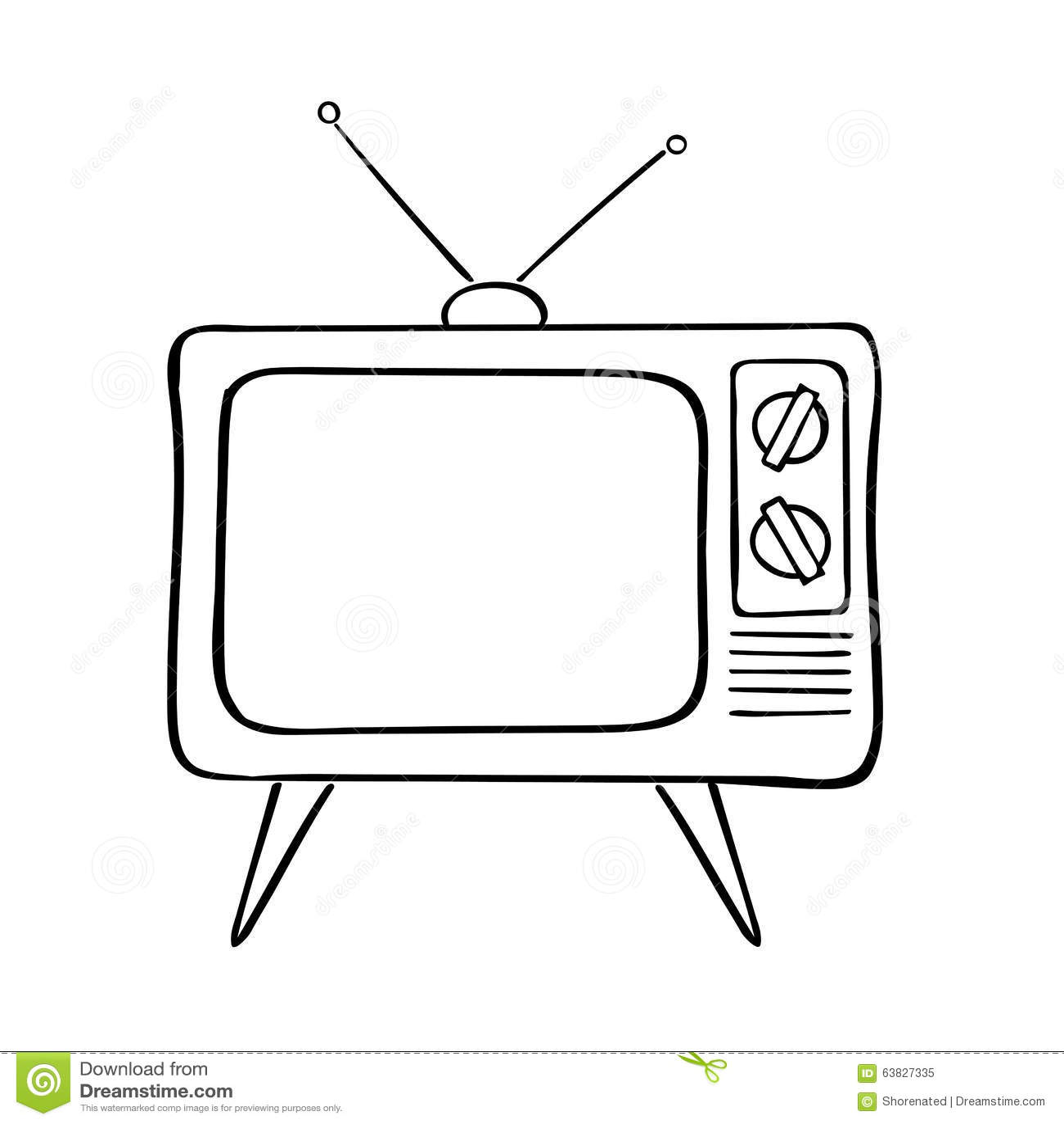 Alter Fernseher vektor abbildung Illustration von