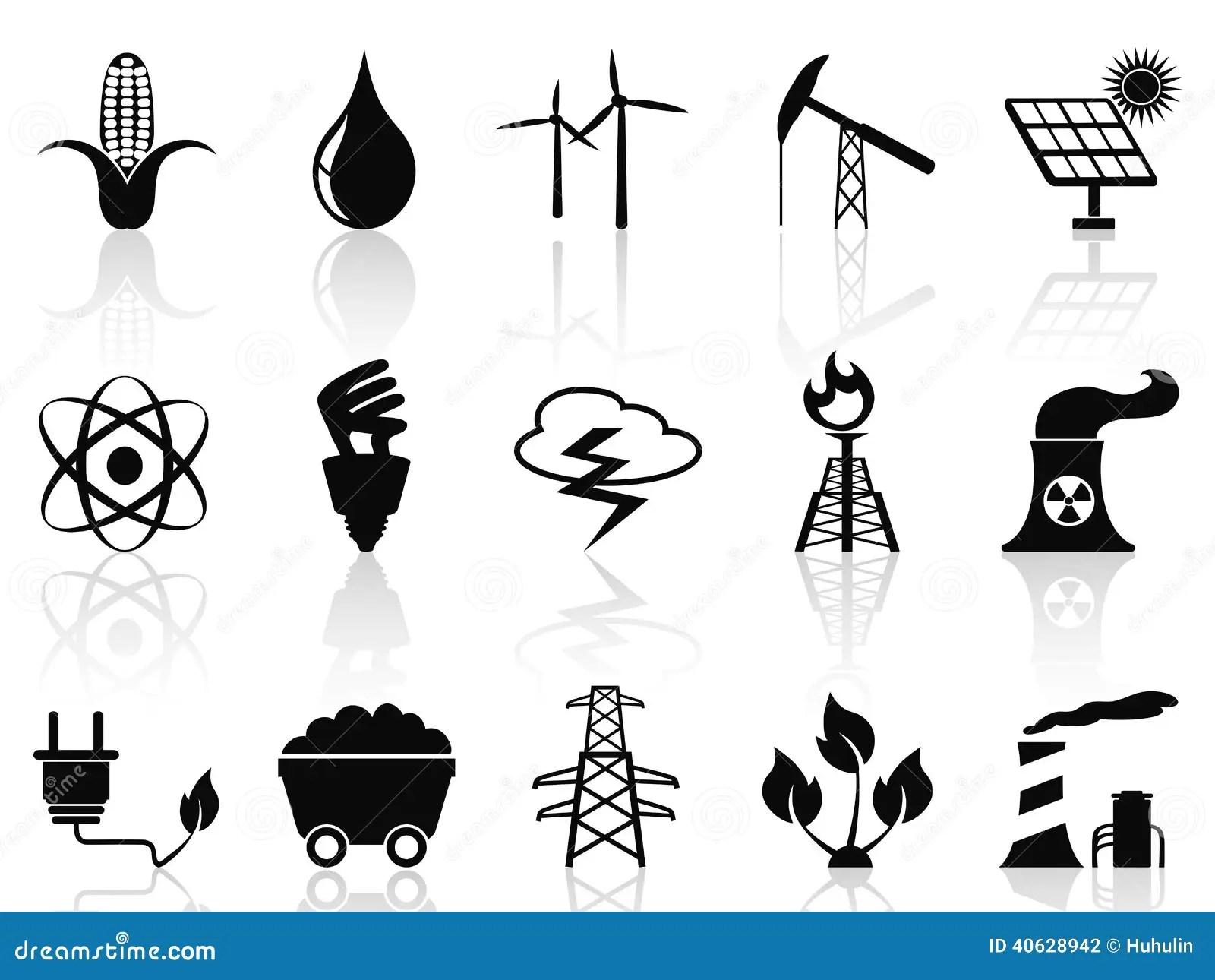Alternative Energy Icons Set Stock Vector