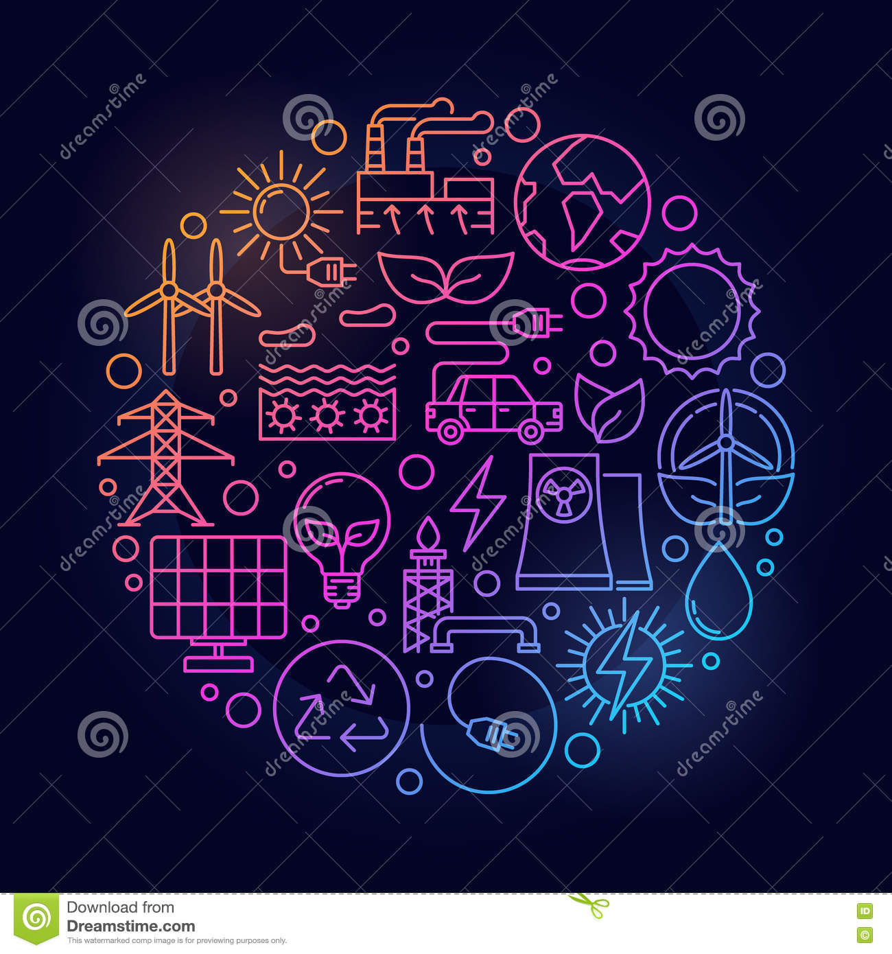 Alternative Energy Sources Sign Stock Vector