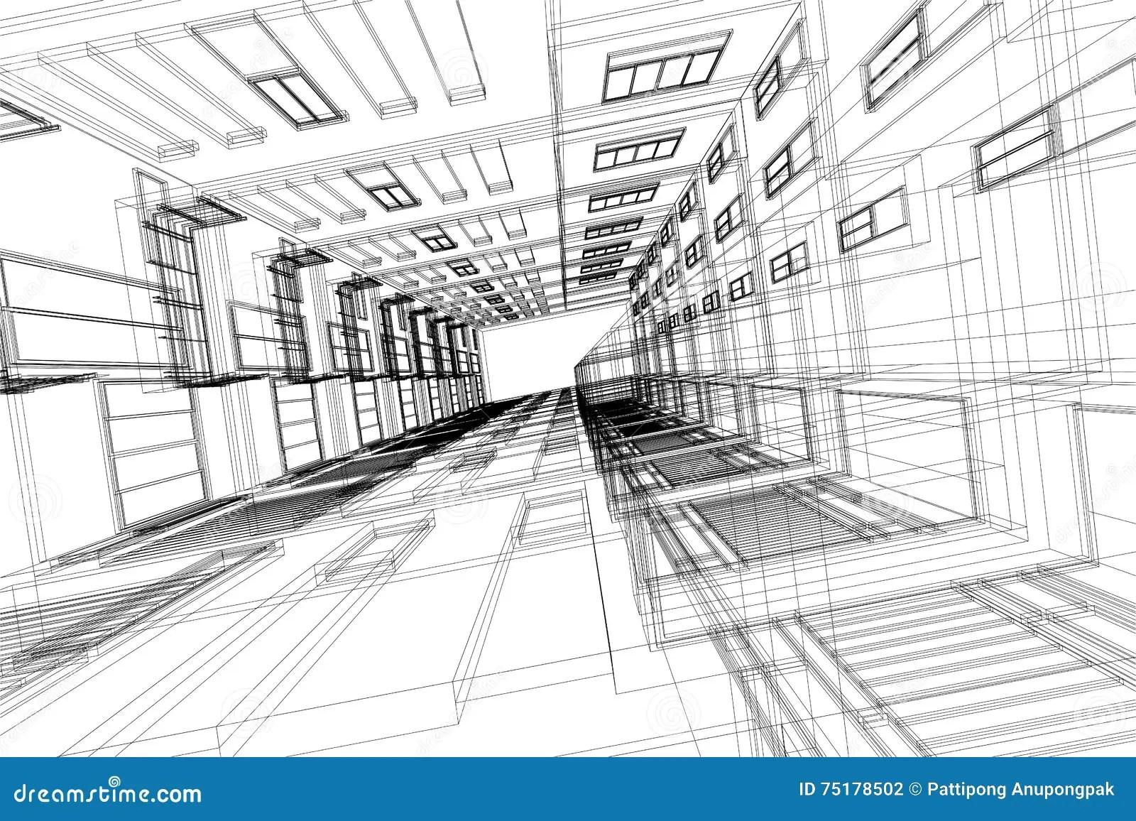 Alto Estratto Di Architettura Della Struttura Edile 3d