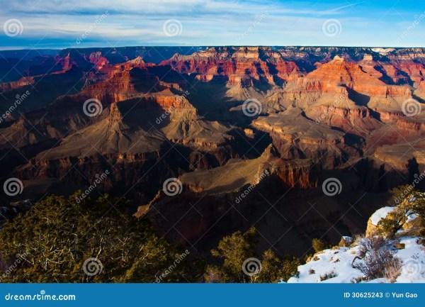Amazing Landscape In Grand Canyon National Park Arizona Usa Stock - Of Desert Blue