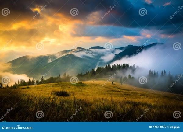 Amazing Mountain Landscape Royalty-free Stock #44078987