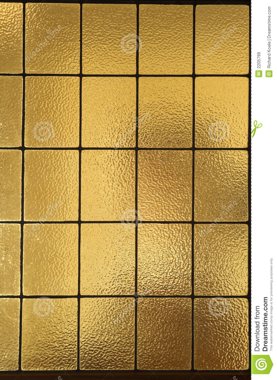 Amber Window Panes  Vertical Royalty Free Stock Images