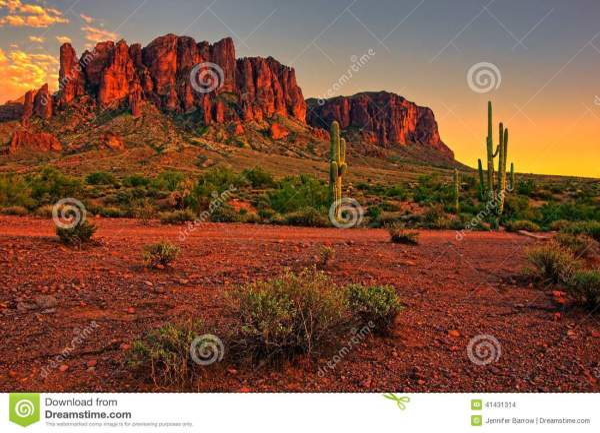 American Desert Sunset Stock - 41431314