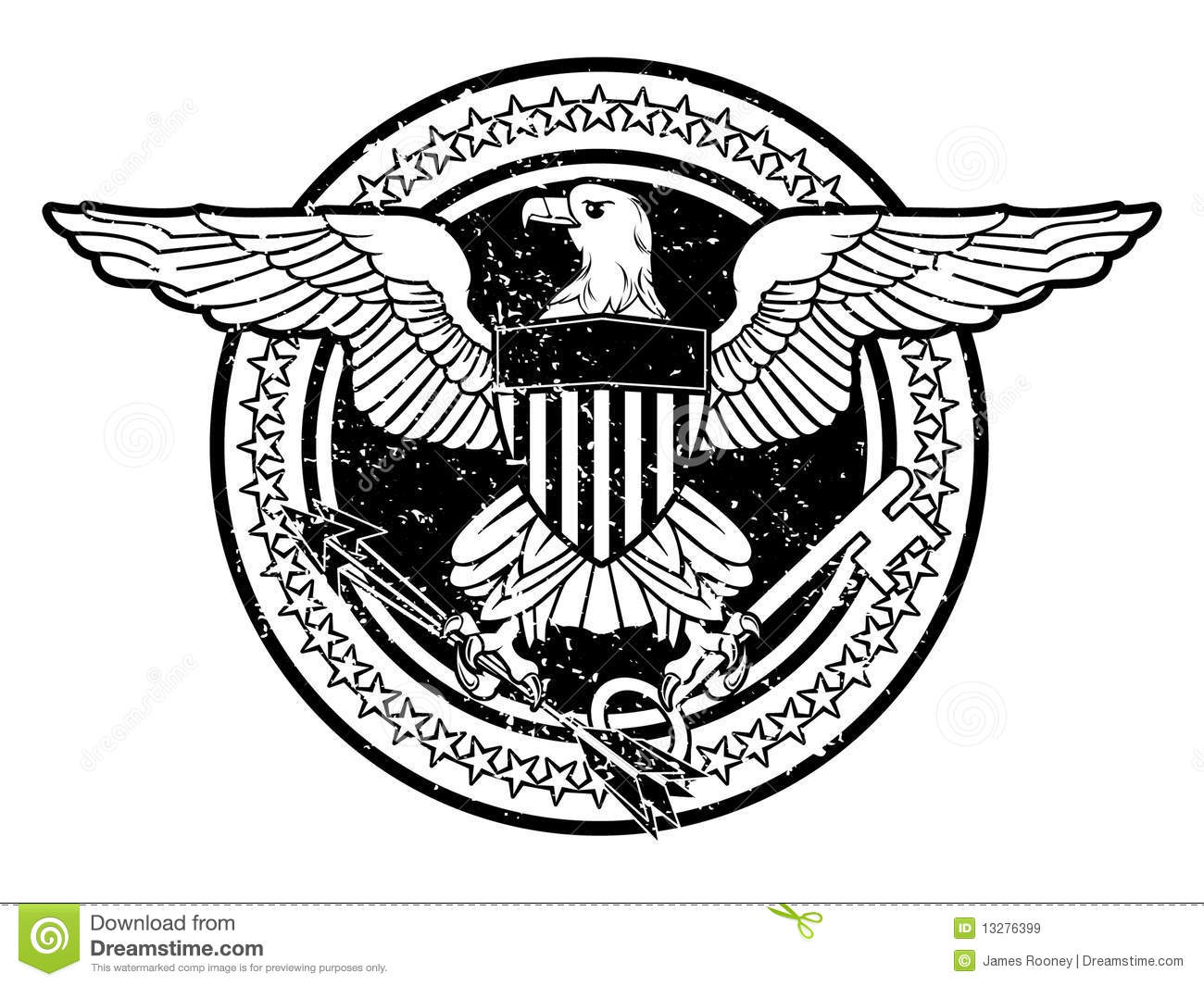 American Eagle Stock Vector Illustration Of Authority