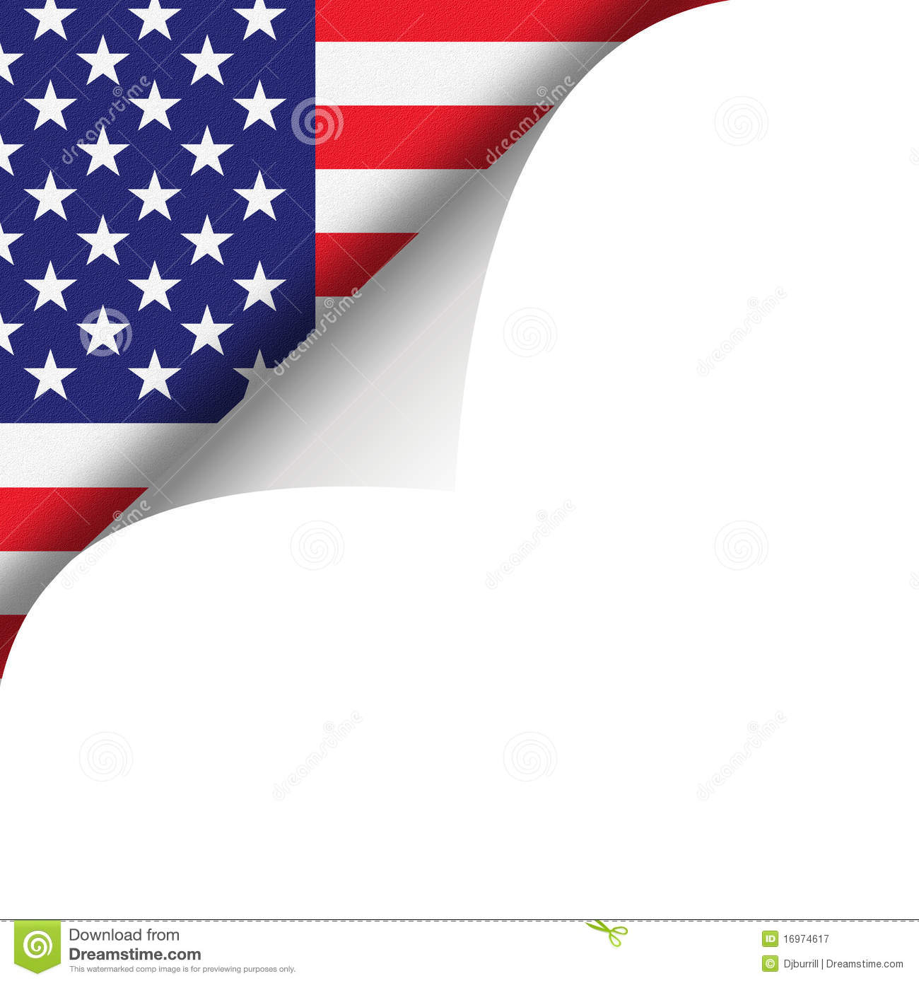 American Flag And Page Curl Royalty Free Stock Photography
