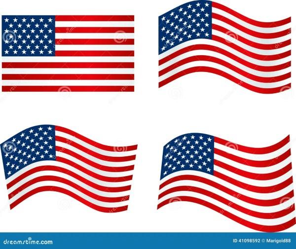 american flag stock vector