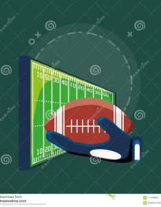 American football ball and field over green background colorful design vector illustration also stock of chart rh dreamstime
