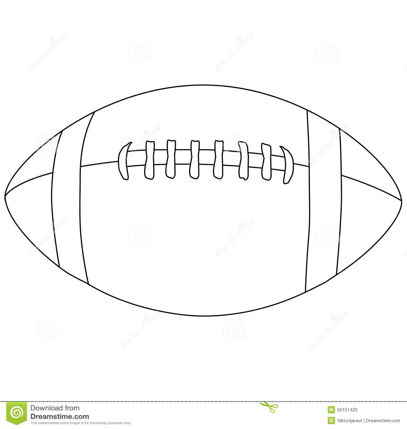 American Football Ball Outline Stock Illustration