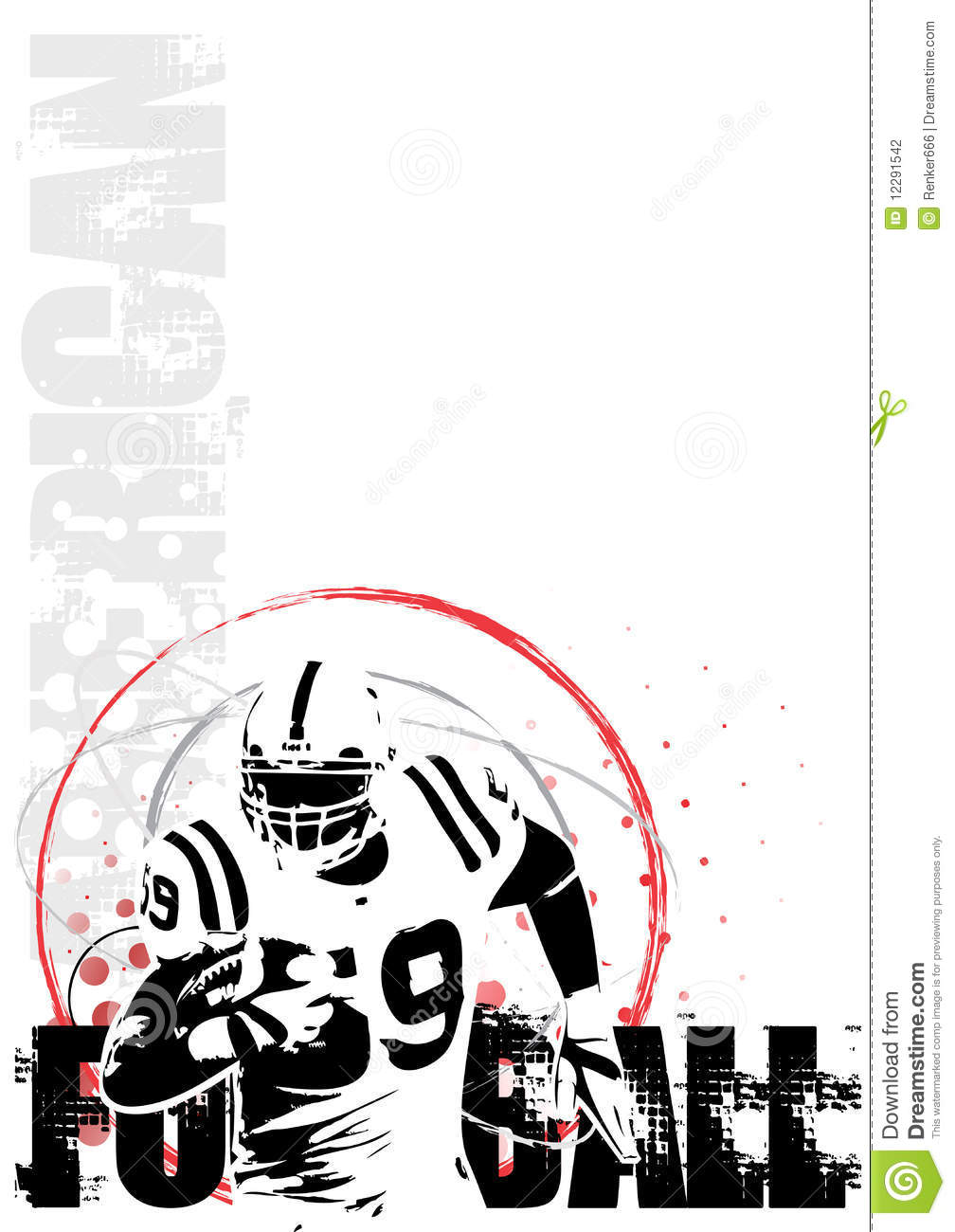 American Football Circle Poster Background 2 Stock