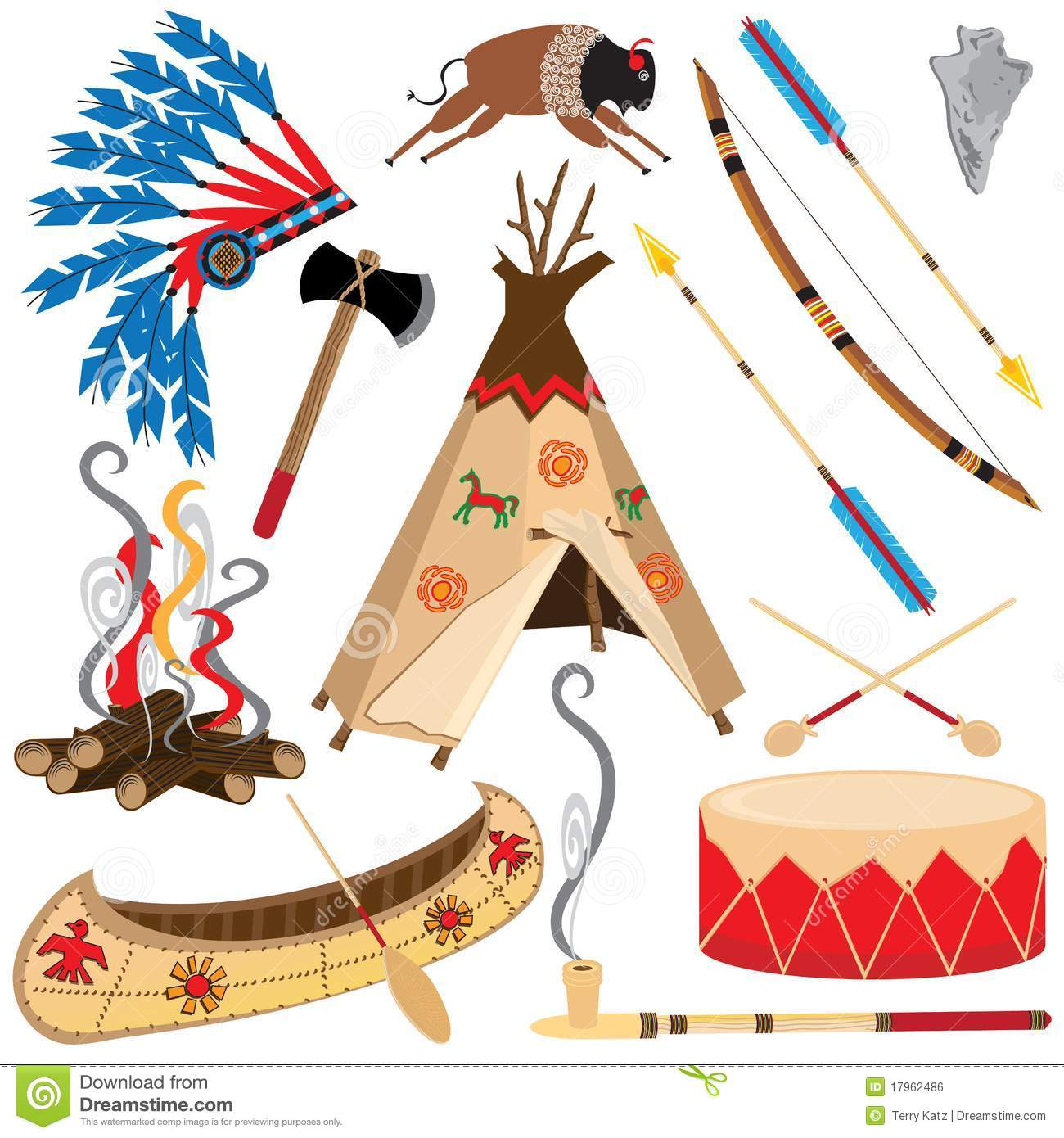 hight resolution of american indian clipart icons