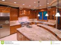 American Kitchens stock image. Image of mansion, ceiling ...
