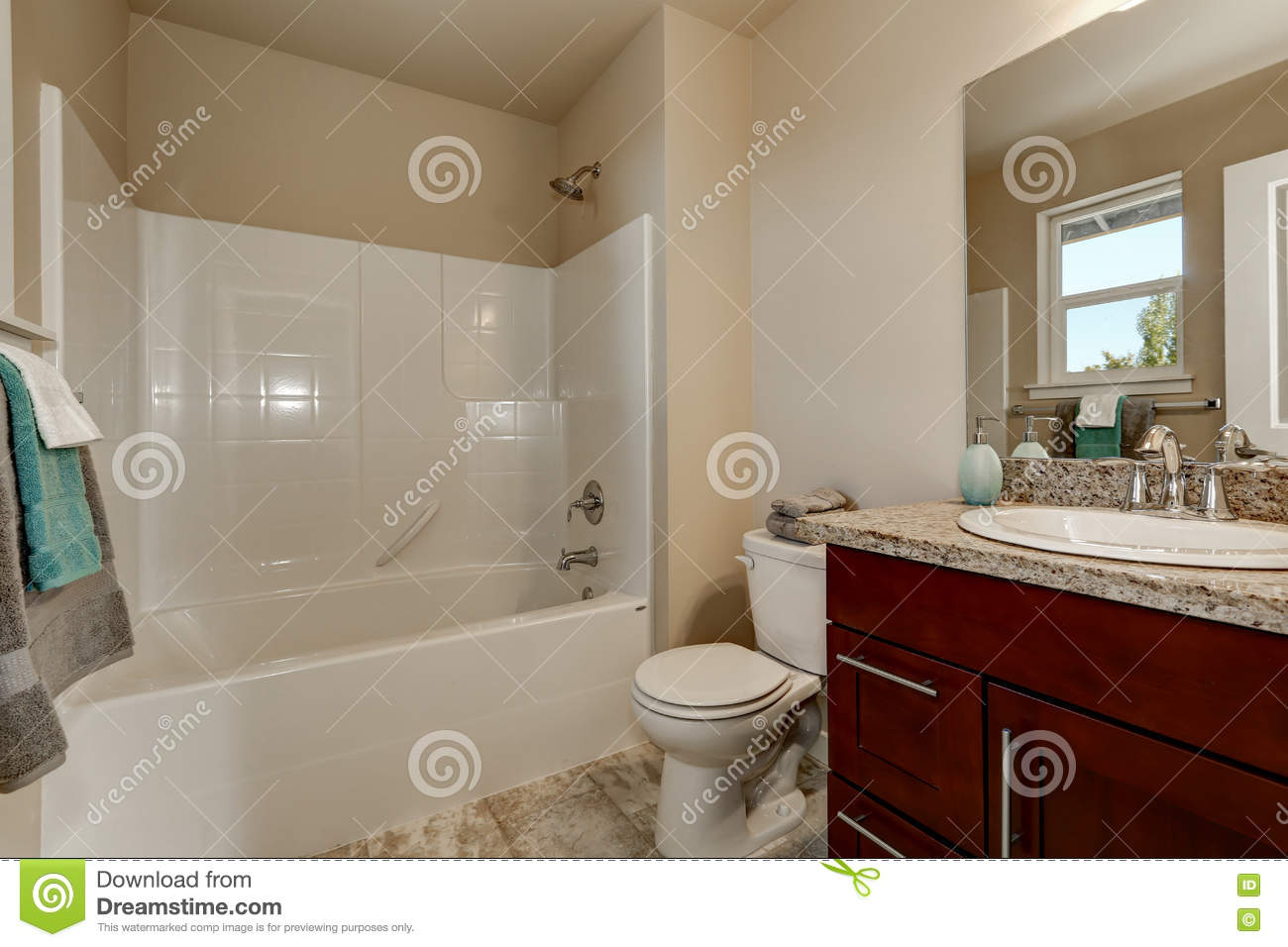 American Style Bathroom With Vanity Cabinet Toilet And