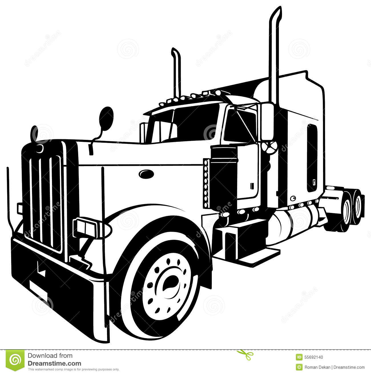 American Truck Stock Vector Illustration Of Transport