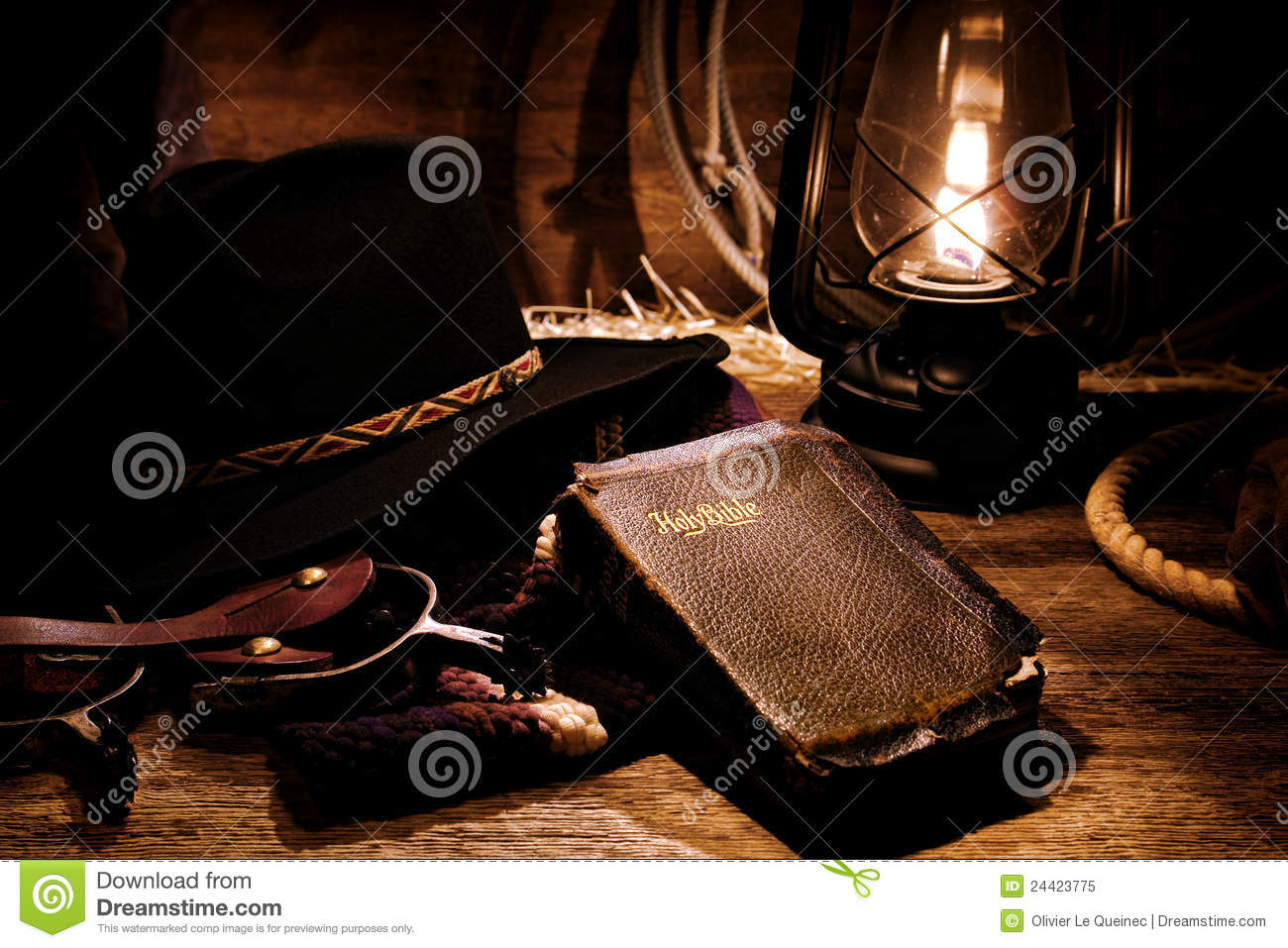 Lit Quotes Wallpaper American West Rodeo Cowboy Gear And Old Holy Bible Royalty