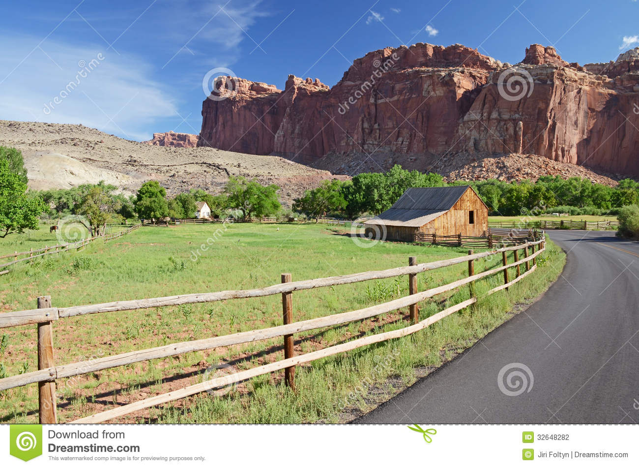 American Wild West Countryside Stock Photography
