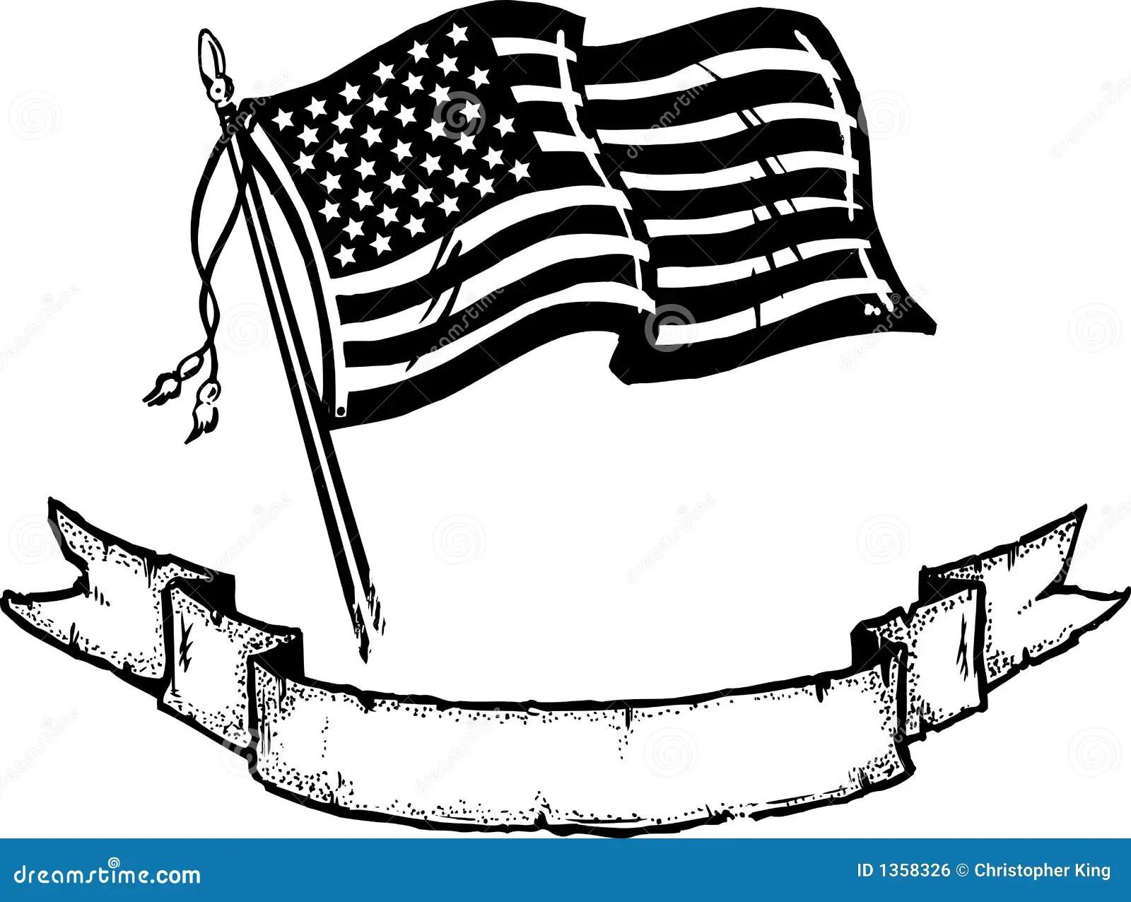 Amerikanische Flagge U Fahne Vektor Abbildung
