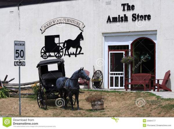 Amish Mennonite People Riding Buggy Royalty-free