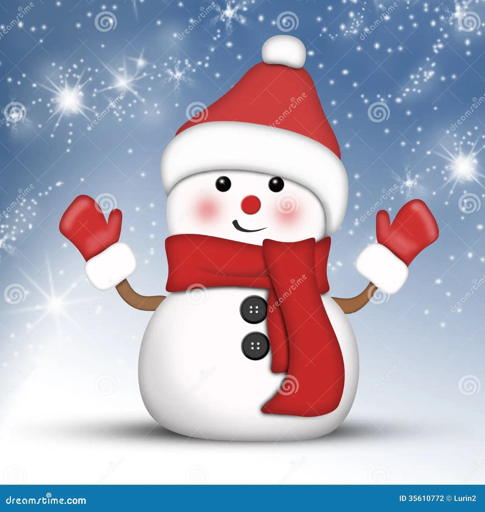 Cute Mittens Wallpaper Amusing Snowman At Hight Stock Photography Image 35610772