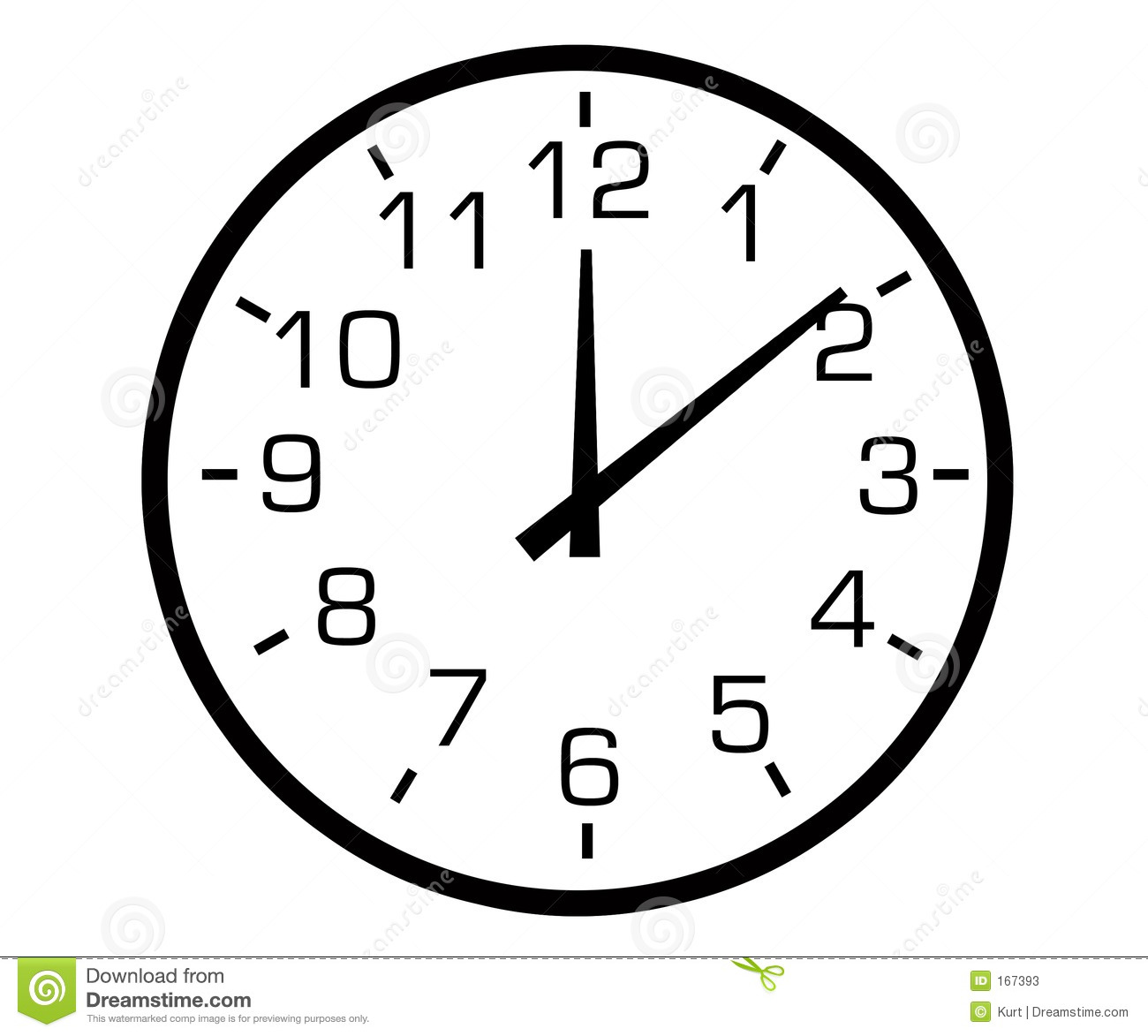 Ogue Clock Stock Illustration Illustration Of
