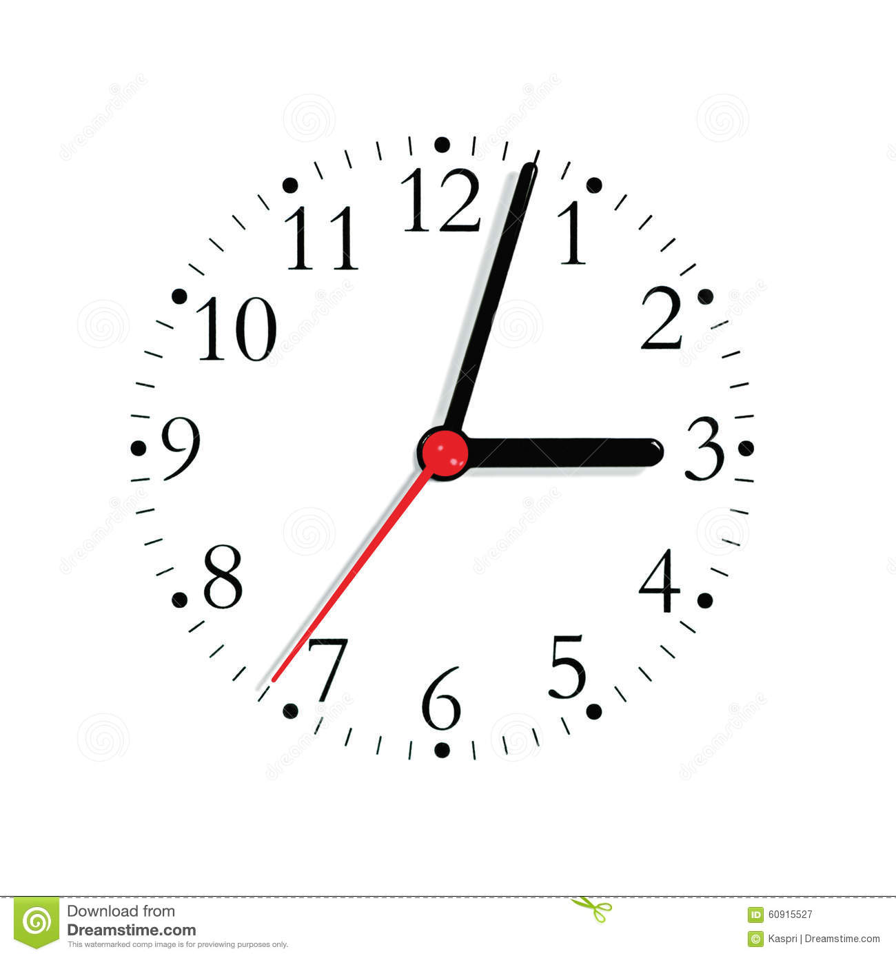Ogue Clock Face Dial In Black And Seconds Hand In Red At 3 03 Large Detailed Isolated Macro