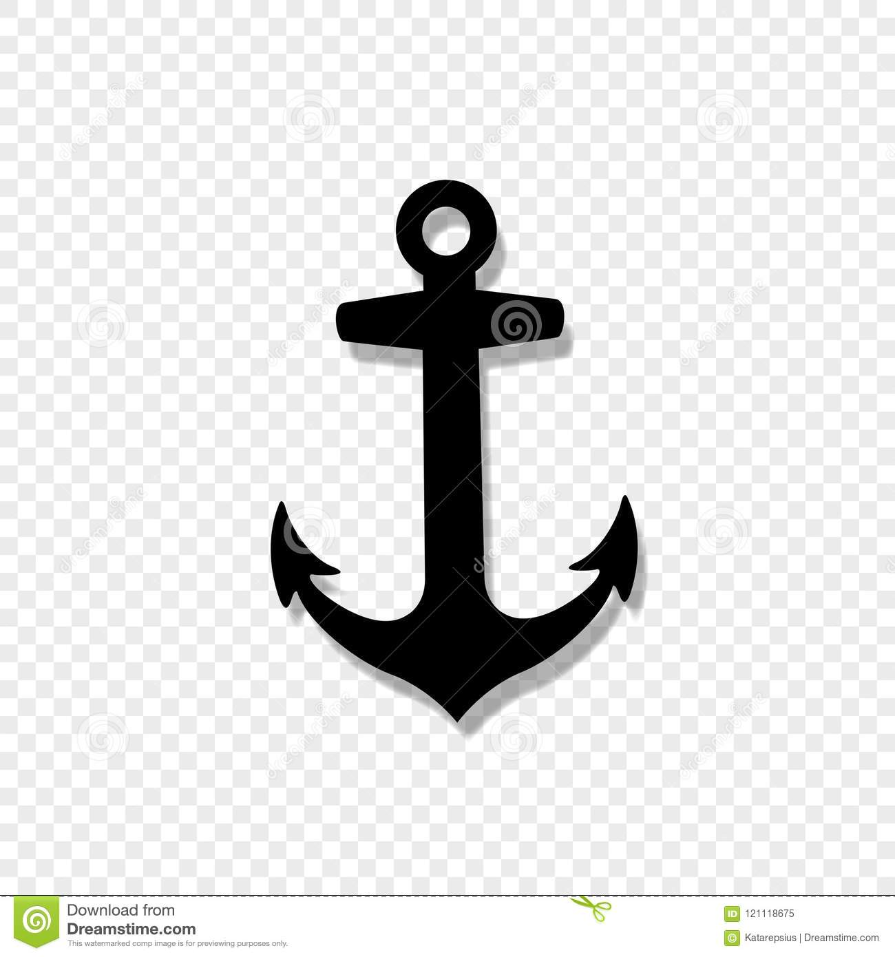 Anchor Armature Icon Isolated On Transparent Background