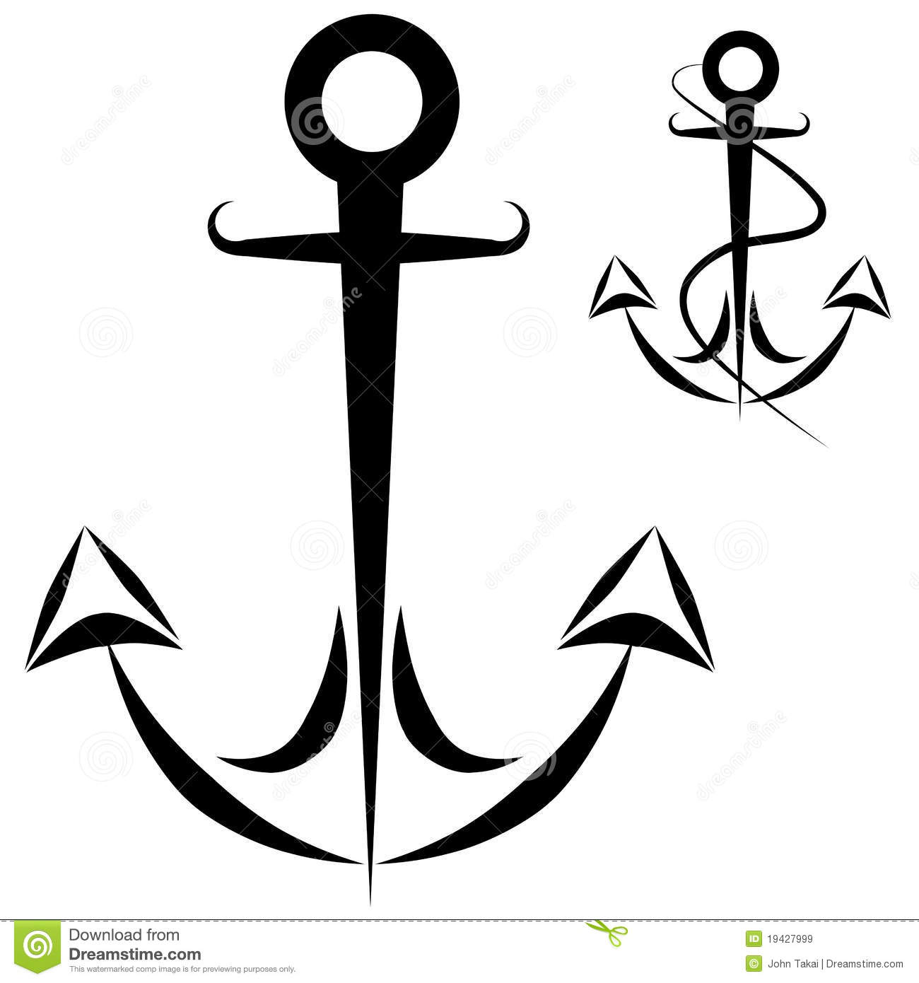 Anchor Chain Rope Royalty Free Stock Images