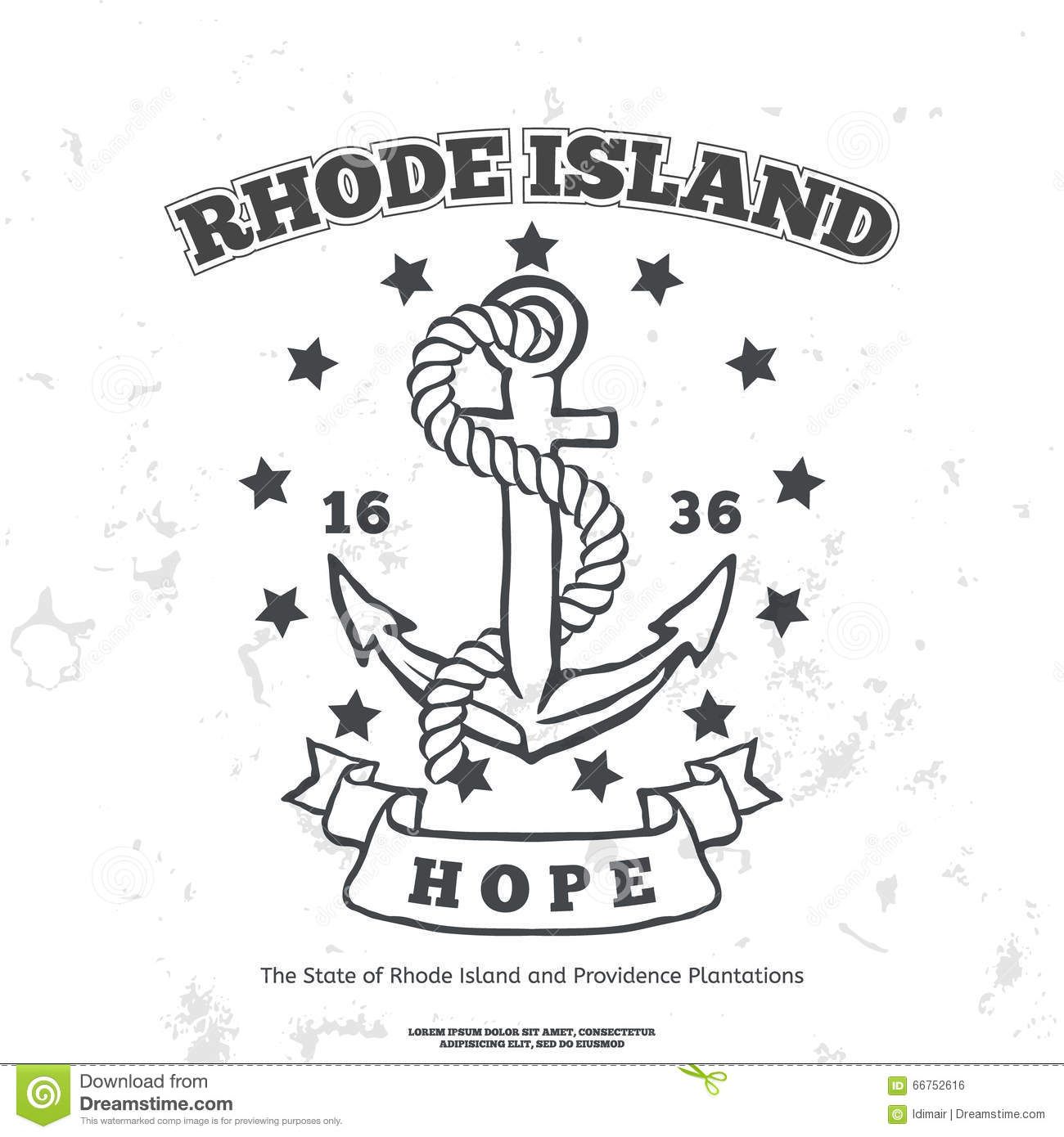Seal Of State Of Rhode Island Royalty-Free Stock Photo