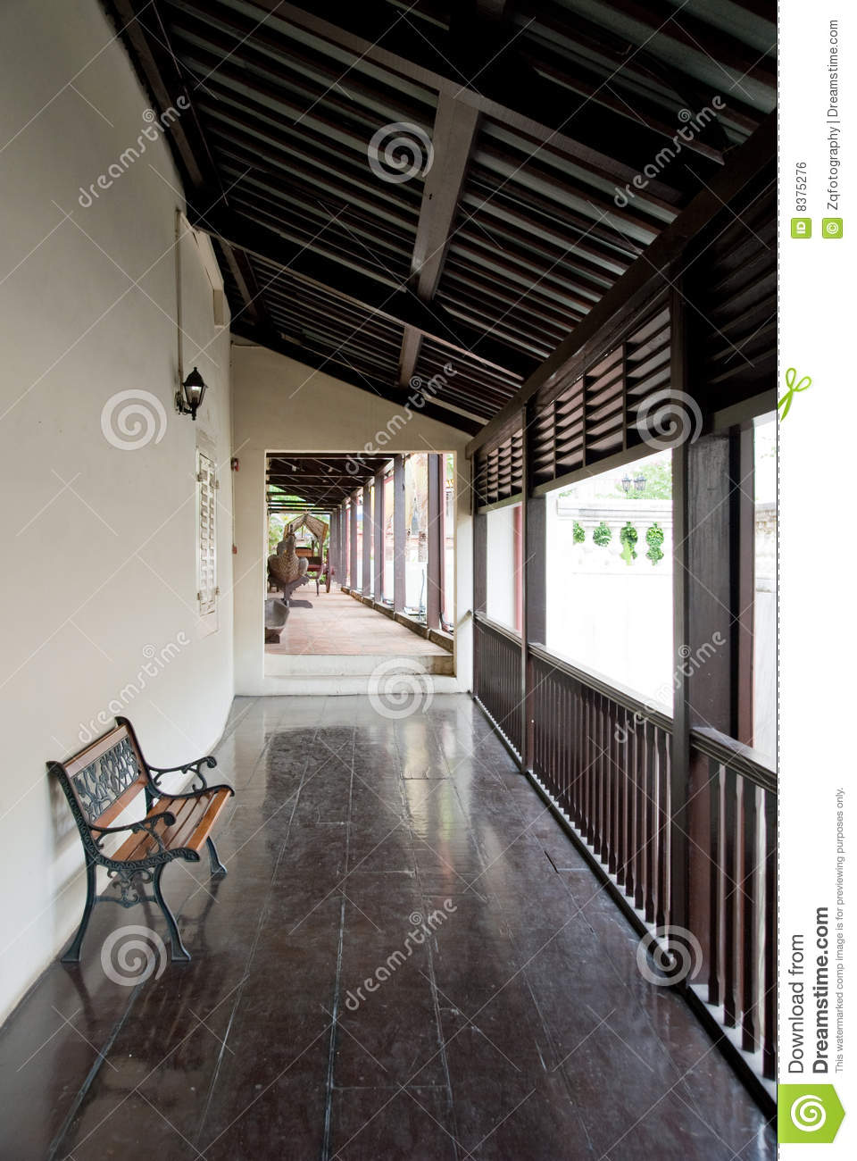 Ancient Chinese House Interior Stock Photo Image Of