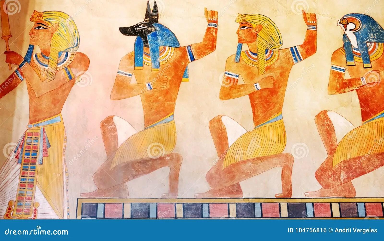 Ancient Egypt Scene Mythology Egyptian Gods And Pharaohs