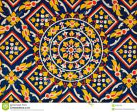 Ancient Floral Pattern Painting On Ceiling Royalty Free ...
