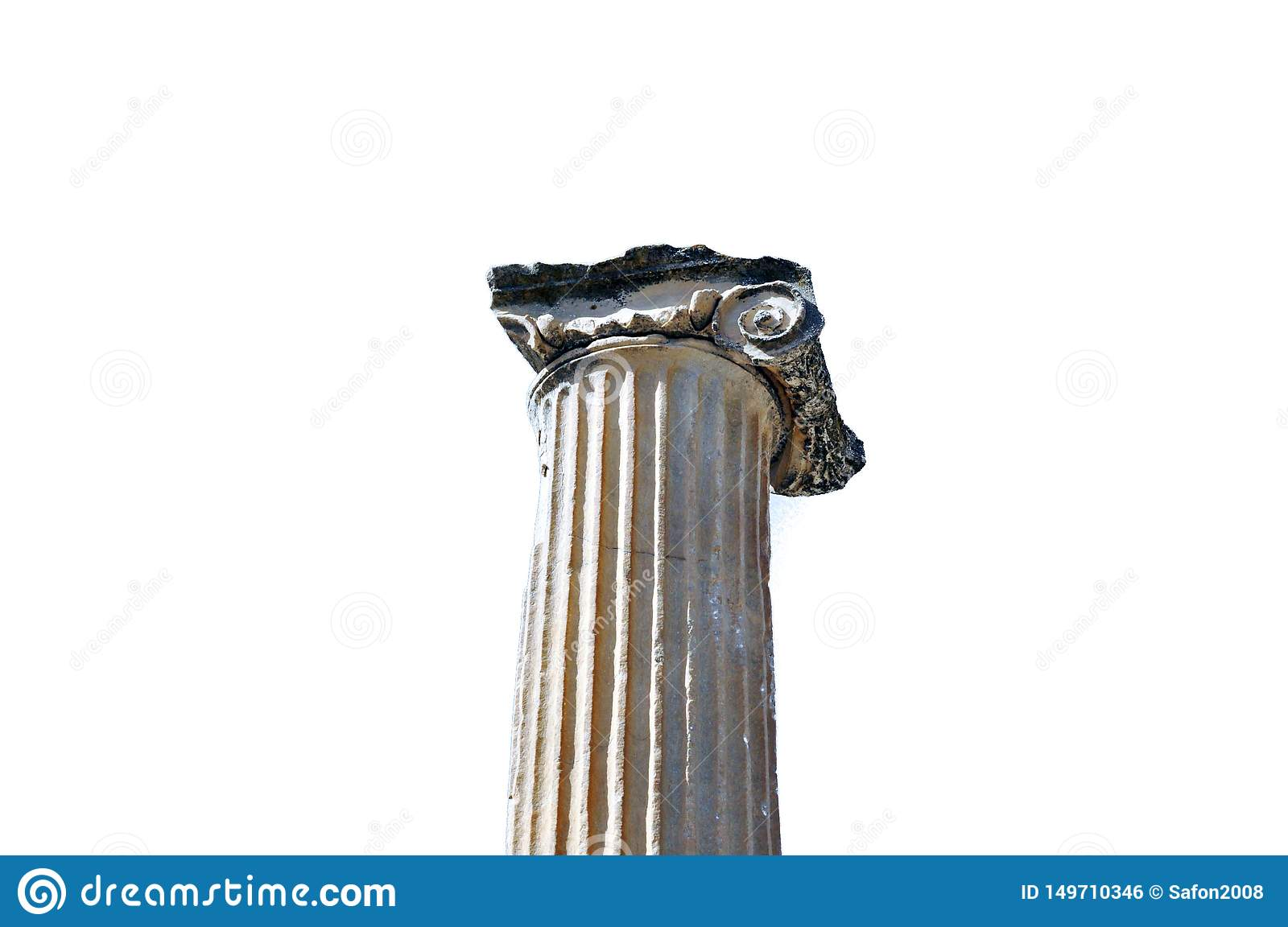 Ancient Greek Architecture Object Marble Column Ionic