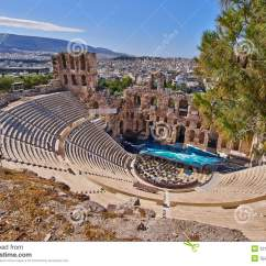 Theater Greek Diagram 2005 Ford F150 Stereo Wiring Ancient Theatre Under Acropolis Of Athens Stock Image - Akropolis, Aesthetic ...
