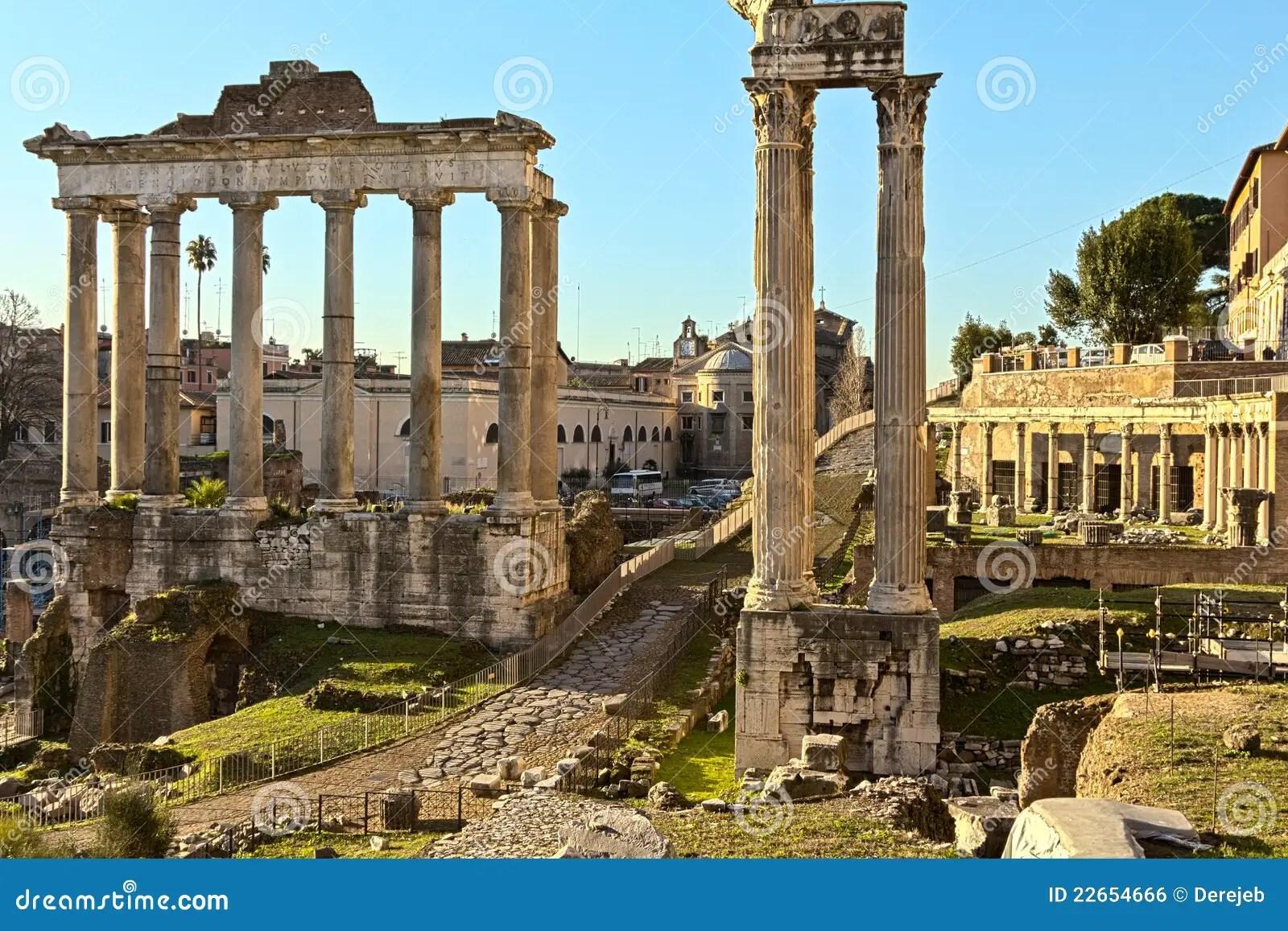 Ancient Rome Ruins Stock Photo Image Of Vesta Rome