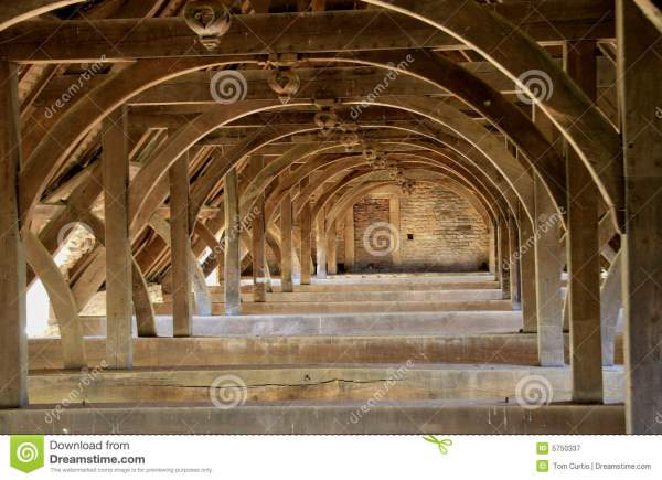 Ancient Roof Trusses Royalty Free Stock