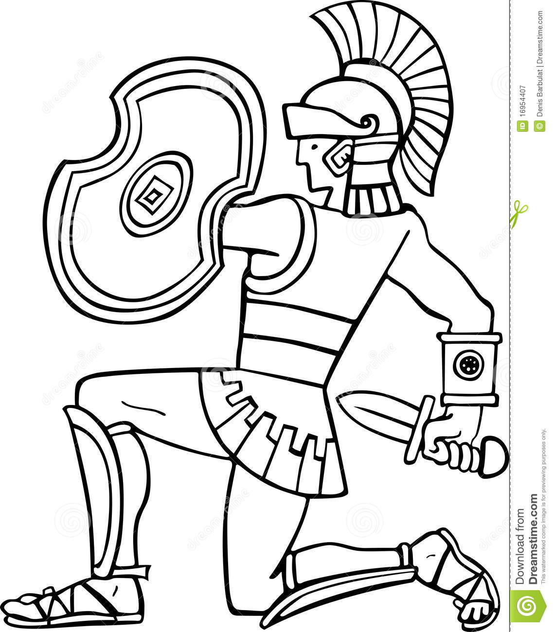 Ancient Sol R Stock Vector Illustration Of Warrior