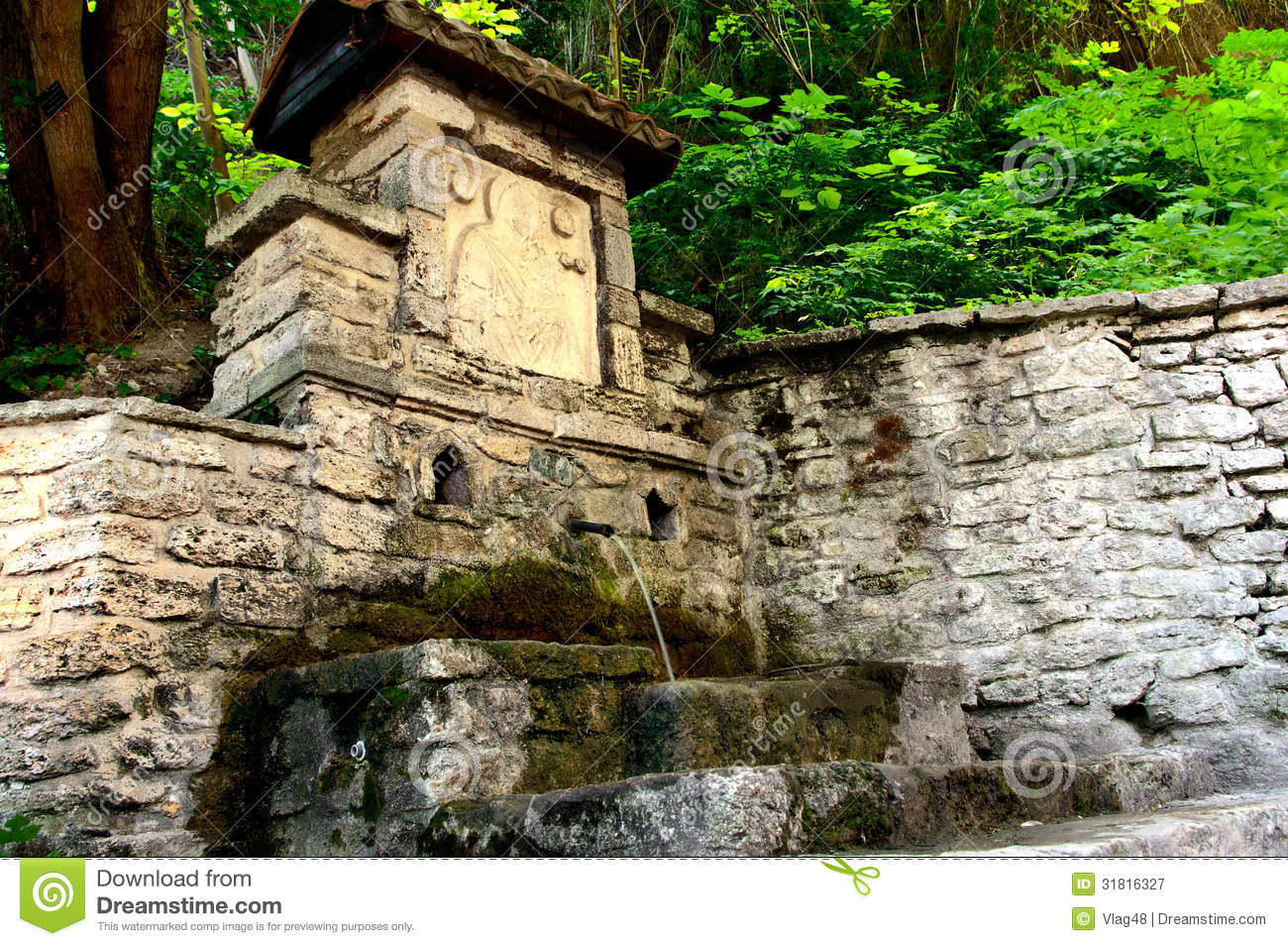 An Ancient Source Of Natural Water Royalty Free Stock Photography