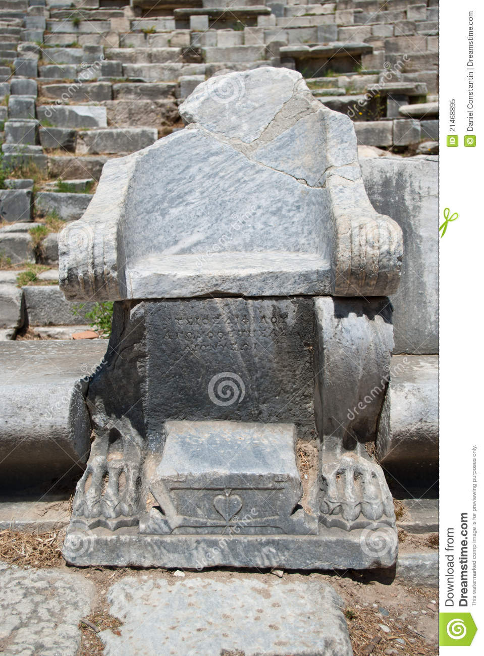 Ancient Stone Chair Royalty Free Stock Photo  Image 21468895