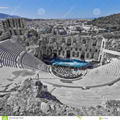Greek Stage Diagram Molecular Orbital Energy For O2 Ancient Theatre Under Acropolis Of Athens Greece Stock