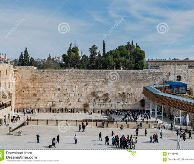 Ancient Western Wall Is A Public Domain Jerusalem Israel
