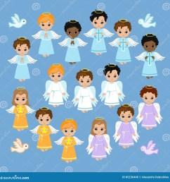angel digital clipart set angel boys on the sky baptism  [ 1300 x 1372 Pixel ]