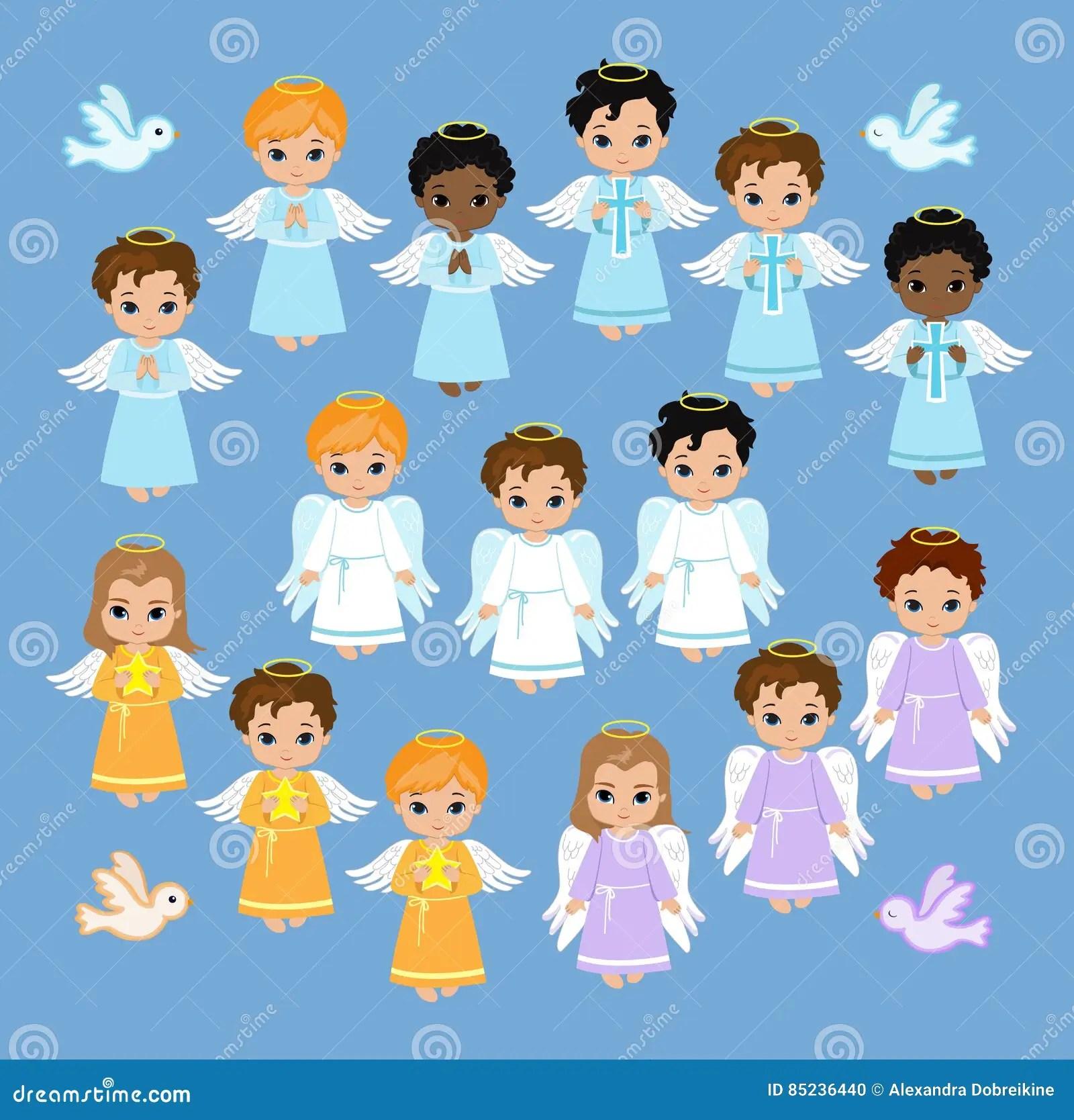 hight resolution of angel digital clipart set angel boys on the sky baptism