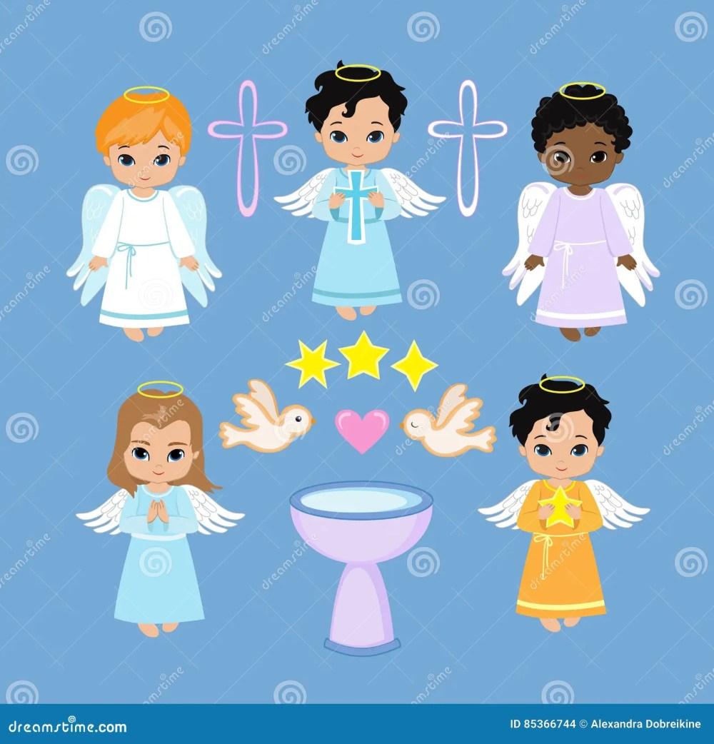 medium resolution of angel digital clipart set angel boys on the sky baptism