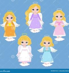 angel digital clipart set angel girls baptism  [ 1300 x 1272 Pixel ]