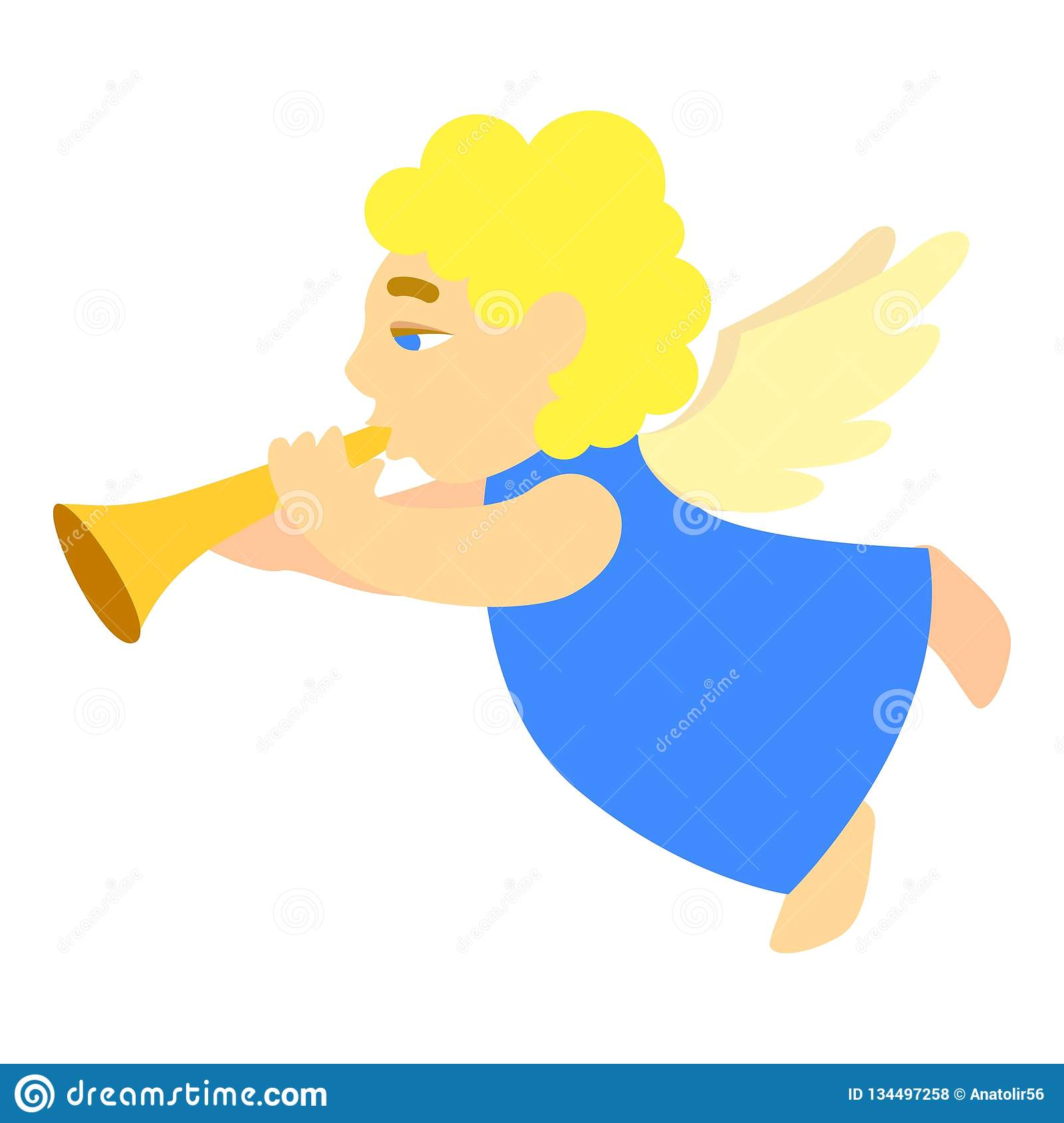 Fairy With Flute Royalty Free Stock Image