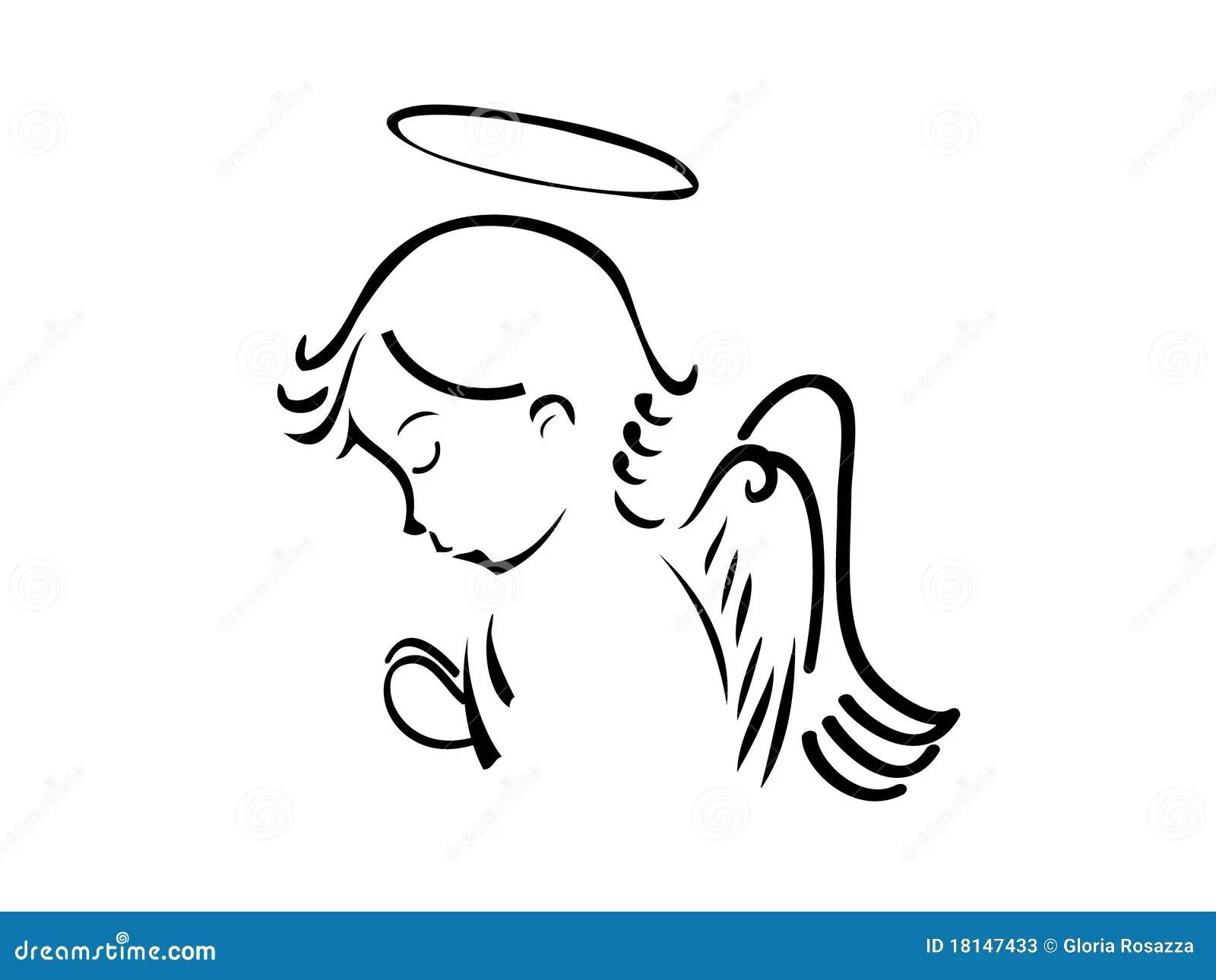Angel Praying Stock Photos