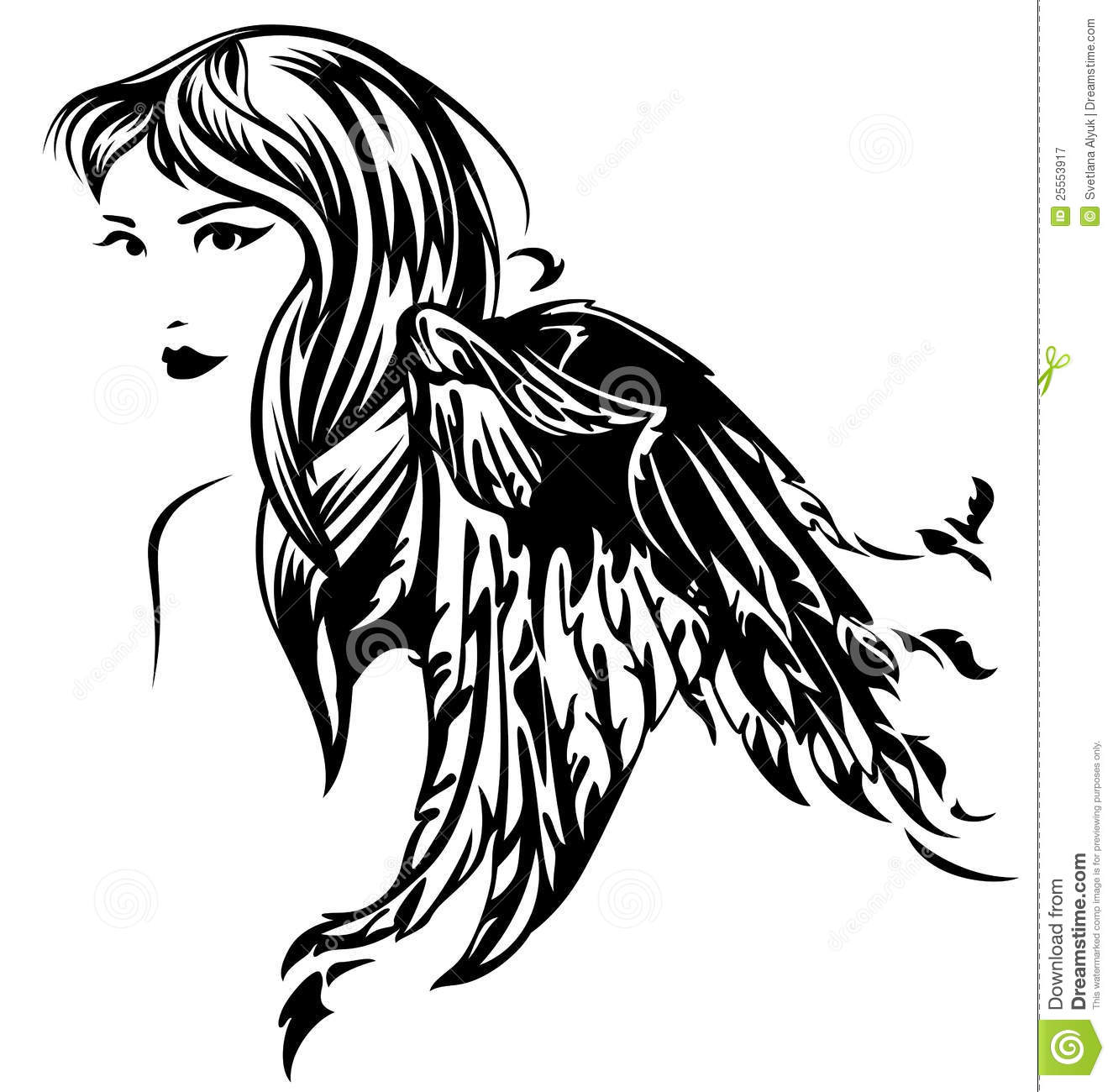 Angel Vector Stock Vector Illustration Of Faith Face